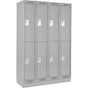 Assembled Clean Line™ Economy Lockers w/Recessed Base - No. of Tiers: 2 - Bank of: 4 - Ships Free