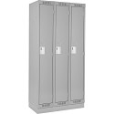 Assembled Clean Line™ Economy Lockers w/Recessed Base - No. of Tiers: 1 - Bank of: 3 - Ships Free