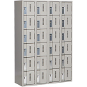 All-Welded Concord™ Heavy-Duty Lockers - Bank of 4 - Colour: Grey