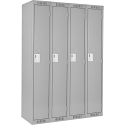 Assembled Clean Line™ Economy Lockers - Basic Style - No. of Tiers: 1 - Bank of: 4 - Ships Free