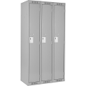 Assembled Clean Line™ Economy Lockers Basic Style - No. of Tiers: 1 - Bank of: 3 - Ships Free