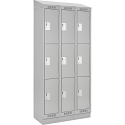 Assembled Clean Line™ Economy Lockers - w/Recessed Base & Slope Top - Ships Free