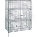 "Security Carts - Stationary - Kit Type: Starter - No. of Shelves: 5 - Overall Dim.: 21.5""D x 50.5""W x 66-13/16""H"