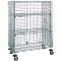 "Security Carts - Mobile - No. of Shelves: 5 - Overall Dim.: 21.5""D x 50.5""W x 68-1/2""H"