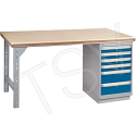 """Pre-designed Workbenches - Configuration: Drawers Pedestal - Height: 34"""" - Width: 60"""""""