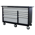 """Roller Cabinet - 9 Drawers - Overall Depth: 24"""" - Overall Width: 53"""""""