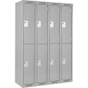 Assembled Clean Line™ Economy Lockers - Basic Style - No. of Tiers: 2 - Bank of: 4 - Ships Free