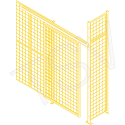 Heavy-Duty Sliding Door - Height: 8' - Width: 4' - Colour: Yellow