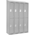 Assembled Clean Line™ Economy Lockers w/Slope Top - No. of Tiers: 2 - Bank of: 4 - Ships Free