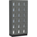 All-Welded Concord™ Heavy-Duty Lockers - Bank of 3 - Colour: Charcoal