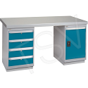 "Pre-designed Workbenches - Configuration: Door & Drawers - Height: 34"" - Width: 60"""