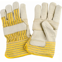 Grain Cowhide Fitters Cotton Fleece Lined Patch Palm Gloves - Size: X-Large - Case Quantity: 24