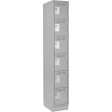 Assembled Lockerette Clean Line™ Economy Lockers w/Recessed Base - No. of Tiers: 6 - Bank of: 1 - Ships Free