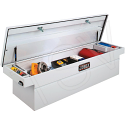 """Crossover Truck Box (Single Lid Box) - Colour: White - Overall Width: 72"""" - Overall Depth: 18-7/8"""" - Overall Height: 20-1/4"""""""
