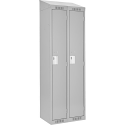 Assembled Clean Line™ Economy Lockers w/Slope Top - No. of Tiers: 1 - Bank of: 2 - Ships Free