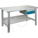 "Pre-designed Workbenches - Configuration: Drawers/Shelf - Height: 34"" - Width: 60"""