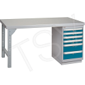 "Pre-designed Workbenches - Configuration: Drawers - Height: 34"" - Width: 60"""